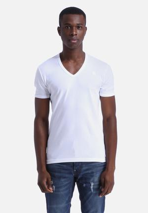 G-Star RAW Base V-Neck T-Shirt 2-Pack White