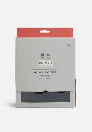 Hunter Half Cardigan Boot Sock Black