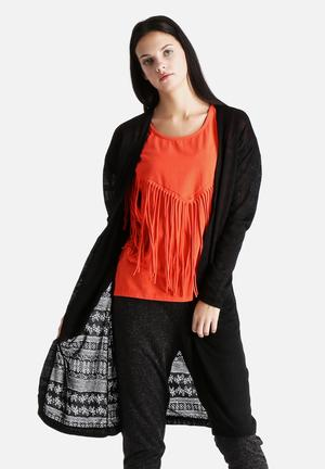 VILA Spirit Long Cardigan Knitwear Black