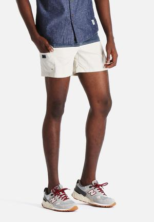 Bellfield Sefton Shorts Swimwear Navy  & Stone