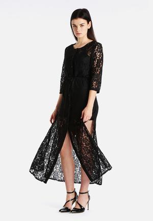Goldie Karley Floral Lace Maxi Dress Occasion Black