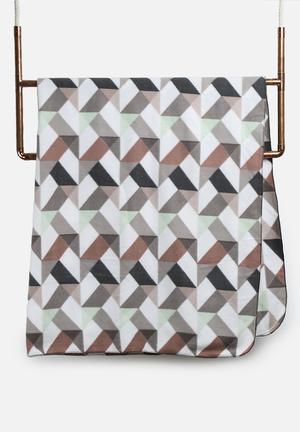 Present Time Fleece Blanket Bedding Graphite