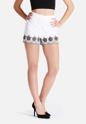 Glamorous Embellished Shorts White
