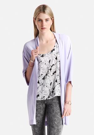 Vero Moda Mally 3/4 Kimono Jackets Purple