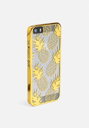 Skinnydip Gold Pineapple IPhone Cover Gold & Cream