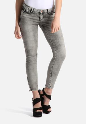 Noisy May Eve Super Slim Ankle Jeans Grey