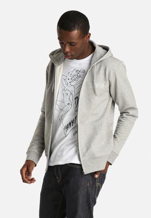 Edwin Classic Hooded Logo Jacket Hoodies & Sweatshirts Grey
