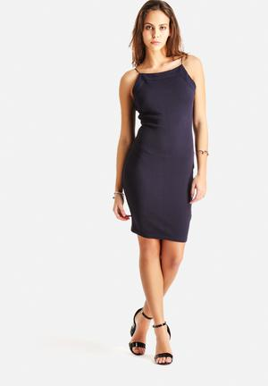 AX Paris Bodycon Thin Strap Dress Formal Navy