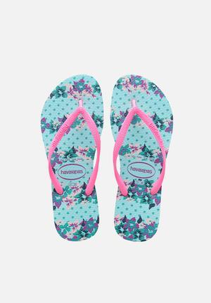 Havaianas Women's Slim Provence Sandals & Flip Flops Blue & Multi