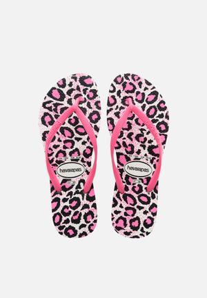 Havaianas Women's Slim Animals Sandals & Flip Flops Pink, Black & White