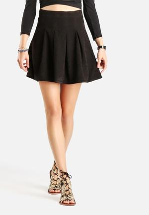Vero Moda Munja Faux Suede Short Skirt Black