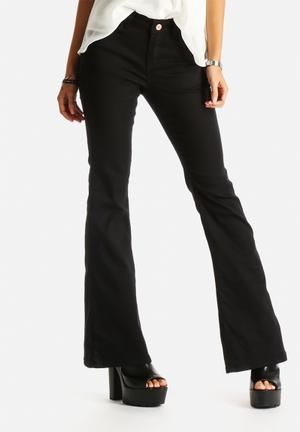 Noisy May Amy Flared Pants Trousers Black