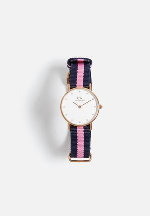 Daniel Wellington Classy Winchester Watches Gold, Navy & Pink