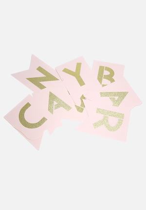 Ginger Ray Pastel Candy Bar Bunting Partyware Pink & Gold
