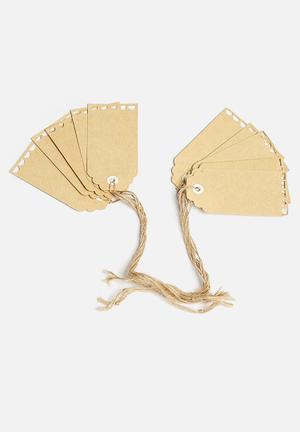 Ginger Ray Vintage Affair Luggage Tags Partyware Paper