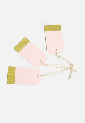 Ginger Ray Pastel Tags Gifting & Stationery Pastel Pink & Gold