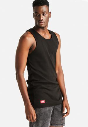 Stussy Wharfie Tank T-Shirts & Vests Black