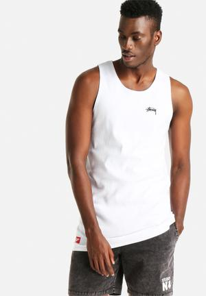 Stussy Wharfie Tank T-Shirts & Vests White