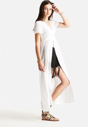 Motel Levana Over Dress Casual White