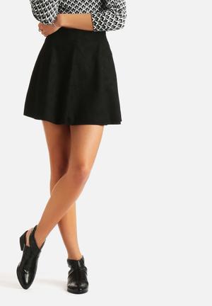 ONLY Neoline PU Skirt Black