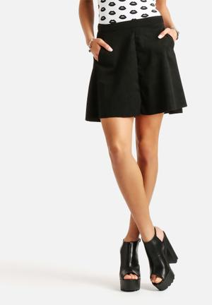 ONLY Fair Faux Suede Skirt Black