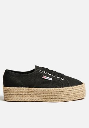 SUPERGA 2790 Espadrille Wedge Sneakers Black
