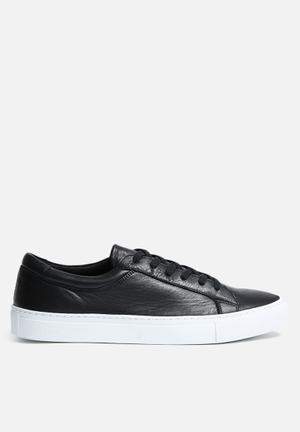 Jack & Jones Footwear & Accessories Galaxy Leather Sneaker Anthracite / White