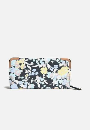 New Look Floral Purse Blue