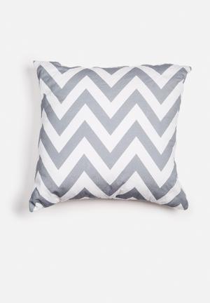 Sixth Floor Chevron Printed Cushion Cotton Twill