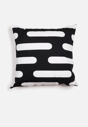 Sixth Floor Round Lines Printed Cushion Cotton Twill