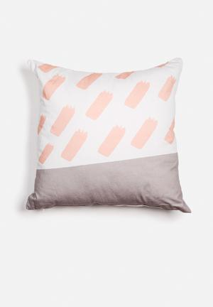 Sixth Floor Brushstroke Printed Cushion Cotton Twill