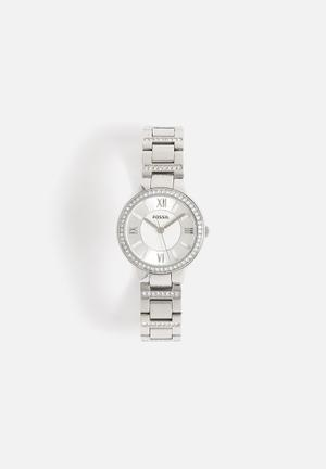 Fossil Virginia Watches Silver