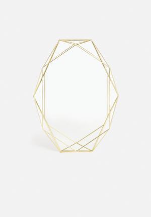 Umbra Prisma Mirror Accessories Brass