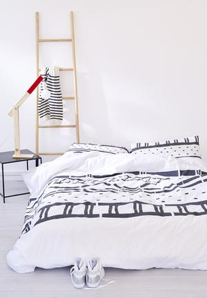 Zana X Superbalist Ladder Duvet Cover Bedding Cotton Percale 250TC