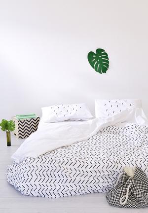 Zana X Superbalist Criss Cross Duvet Cover Bedding 250TC Cotton Percale