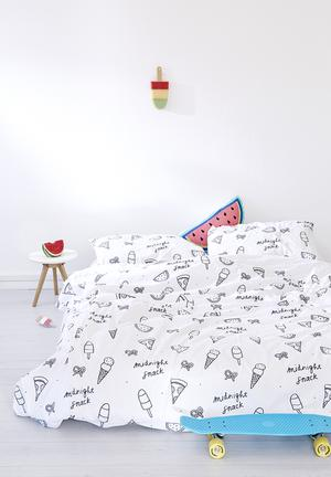Zana X Superbalist Midnight Snack Duvet Cover Bedding 250TC Cotton Percale