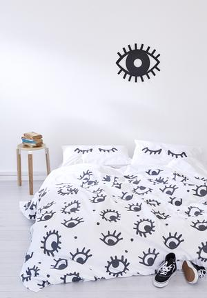 Zana X Superbalist I See You Duvet Cover Bedding 250TC Cotton Percale
