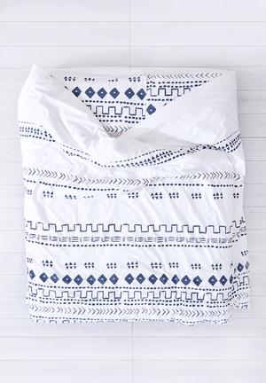 Zana X Superbalist Tribal Duvet Cover Bedding Cotton Percale 250TC