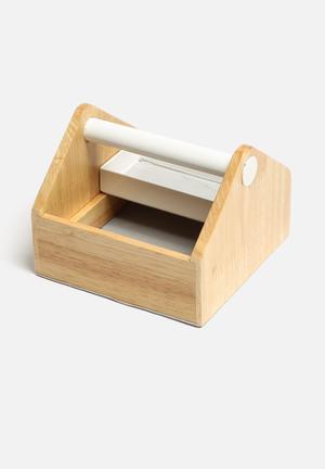 Umbra Toto Storage Box Birch Plywood / Powder Coated Metal