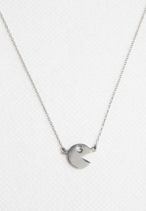 Kirsten Goss Mini Charm Pacman Necklace Silver Jewellery Silver