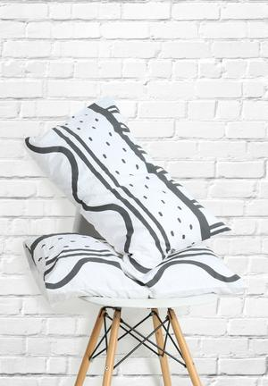 Zana X Superbalist Ladder Pillowcase Set Bedding Cotton Percale 250TC