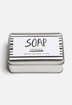 Sixth Floor Mono Soap Bar Bath Accessories Aluminium Tin Container