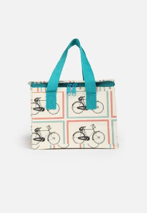 Heart And Home Vintage Bicycle Lunch Bag Kitchen Accessories Multi-Colour