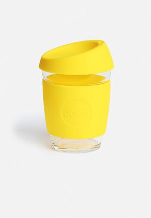 Joco Glass Coffee Cup 350ml Drinkware & Mugs Yellow