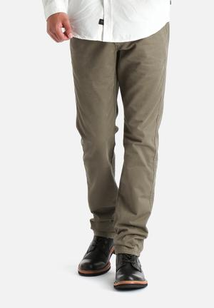 Selected Homme Three Paris Regular Chino Olive