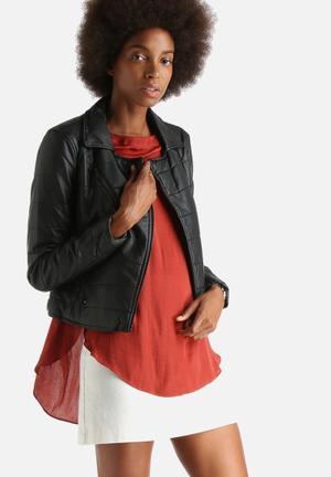 Vero Moda Lanes Short PU Jacket Black