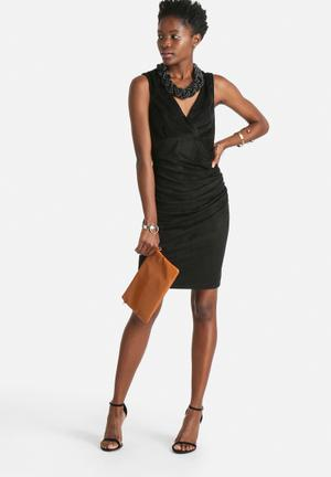 ONLY Fair Suede Dress Formal Black