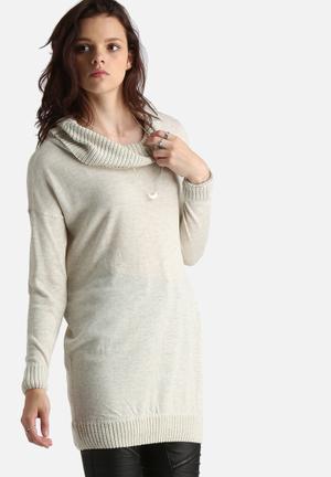 ONLY Julienne Roll Neck Sweater Knitwear Oatmeal