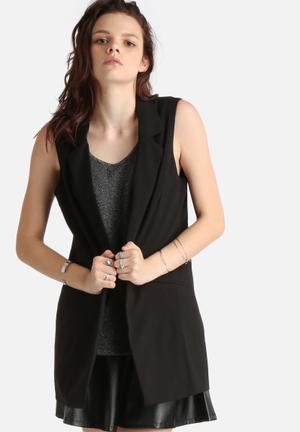 ONLY Rail Elegant Long Waistcoat Jackets Black
