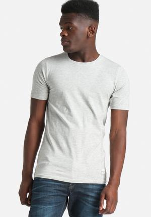 Only & Sons Ela Tee Muscle T-Shirts & Vests Grey Melange